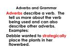 adverbs and grammar