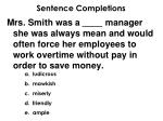 sentence completions3