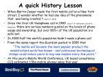 a quick history lesson