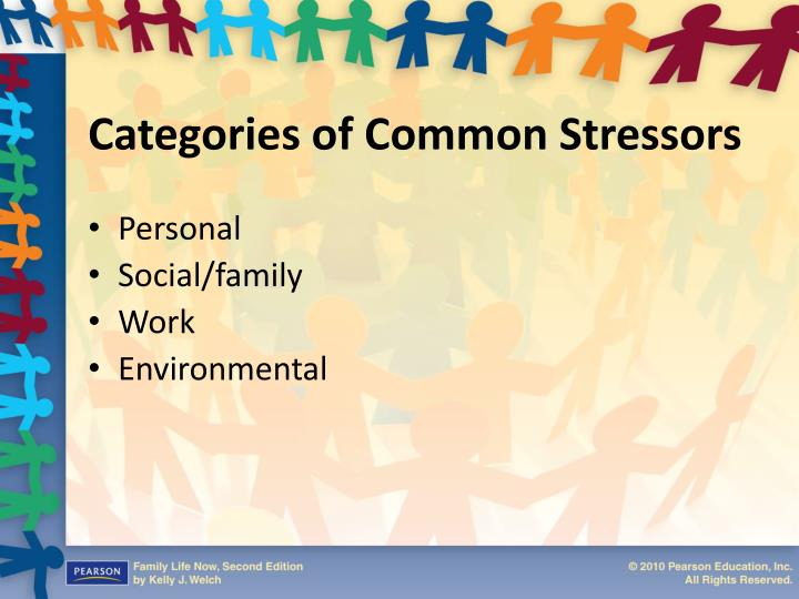 Categories of common stressors