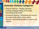 domestic violence categories