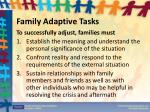 family adaptive tasks