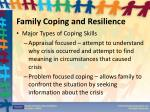 family coping and resilience