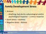 family development stress