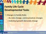 family life cycle developmental tasks1