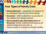 four types of family crisis