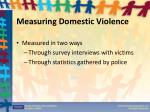 measuring domestic violence