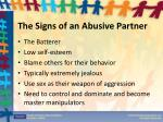 the signs of an abusive partner