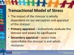 transactional model of stress