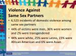 violence against same sex partners