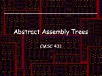 abstract assembly trees