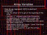 array variables1