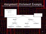 assignment statement example