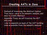 creating aats in java2