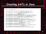 creating aats in java3