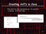 creating aats in java4