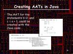 creating aats in java5