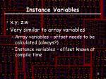 instance variables