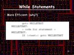 while statements1