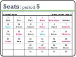 seats period 5