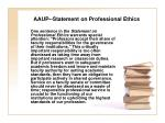 aaup statement on professional ethics