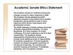 academic senate ethics statement