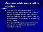 genome wide association studies1