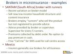 brokers in microinsurance examples