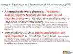 issues in regulation and supervision of microinsurance iais