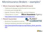 microinsurance brokers examples 1