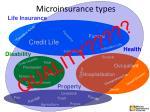 microinsurance types