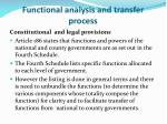 functional analysis and transfer process