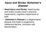 injury and stroke alzheimer s disease