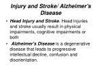 injury and stroke alzheimer s disease