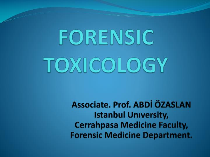 Ppt toxicology.