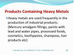 products containing heavy metals