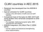 clmv countries in aec 2015