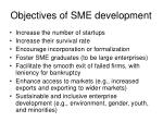 objectives of sme development
