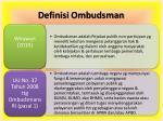definisi ombudsman