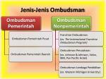jenis jenis ombudsman