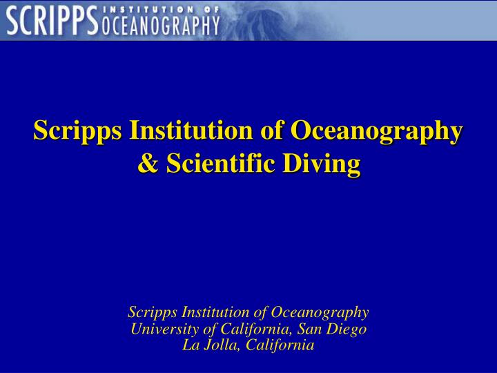 scripps institution of oceanography scientific diving n.