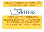 african author information is available but limited