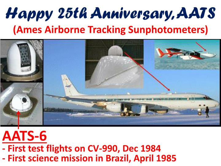 happy 25th anniversary aats ames airborne tracking sunphotometers n.