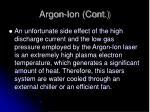 argon ion cont