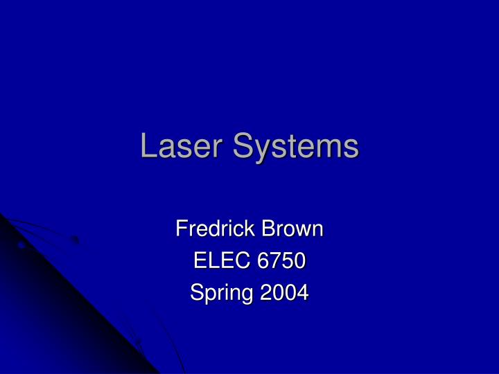 laser systems n.