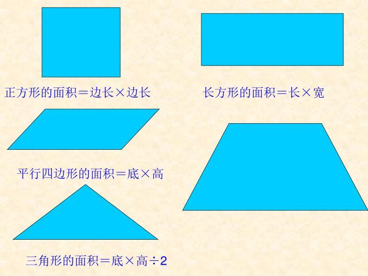 正方形的面积=边长