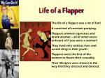 life of a flapper