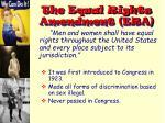 the equal rights amendment era