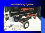 modified log splitter