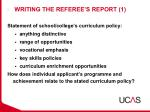 writing the referee s report 1